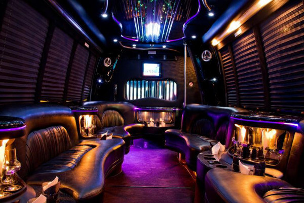 15 person party bus rental Durham