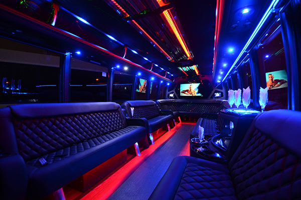 40 passenger party bus rental Durham